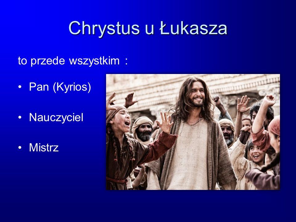 Chrystus u Łukasza to przede wszystkim : Pan (Kyrios) Nauczyciel Mistrz