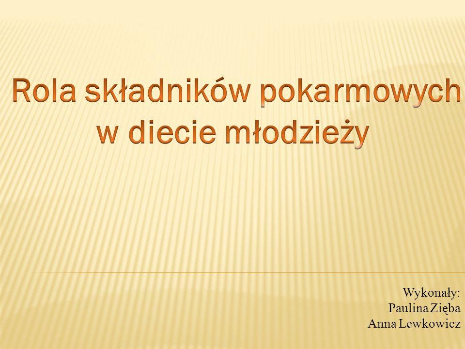 Wykonały: Paulina Zięba Anna Lewkowicz