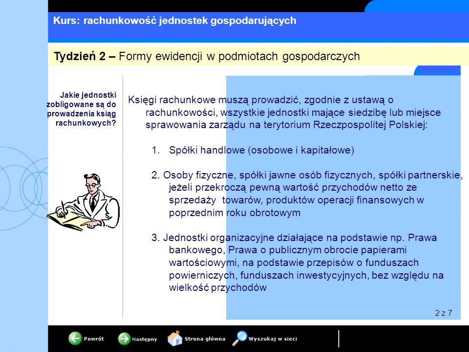 Kurs: rachunkowość jednostek gospodarujących 4.