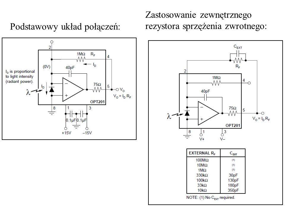 24 Podstawowy układ połączeń: Zastosowanie zewnętrznego rezystora sprzężenia zwrotnego: