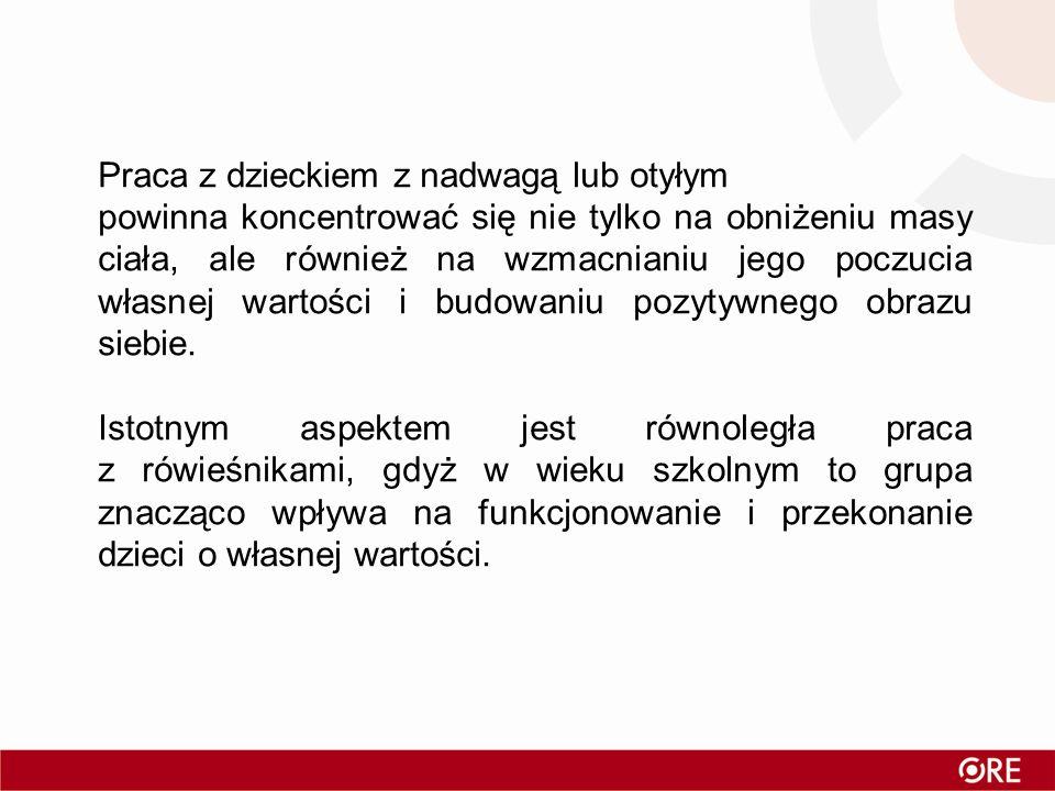 Polska Projekt OLAF – Centrum Zdrowia Dziecka 2007- 09 Badania dzieci i młodzieży w wieku 7-19 lat N=17 573 Nadwaga Otyłość Razem Chłopcy 10% 8% 18% Dziewczęta 11% 7% 18% Największe odsetki uczniów z nadwagą: - w szkołach podstawowych, - w dużych miastach, - w rodzinach z jednym dzieckiem, - w rodzinach o najwyższych dochodach, - gdy dziecko ma w swoim pokoju komputer i telewizor.