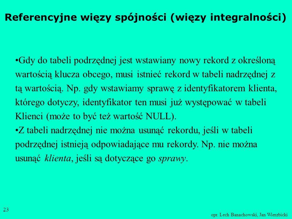 opr. Lech Banachowski, Jan Wierzbicki 22 Każde pismo dotyczy dokładnie jednej sprawy. Z każdą sprawą może być związane wiele pism. Każda sprawa dotycz