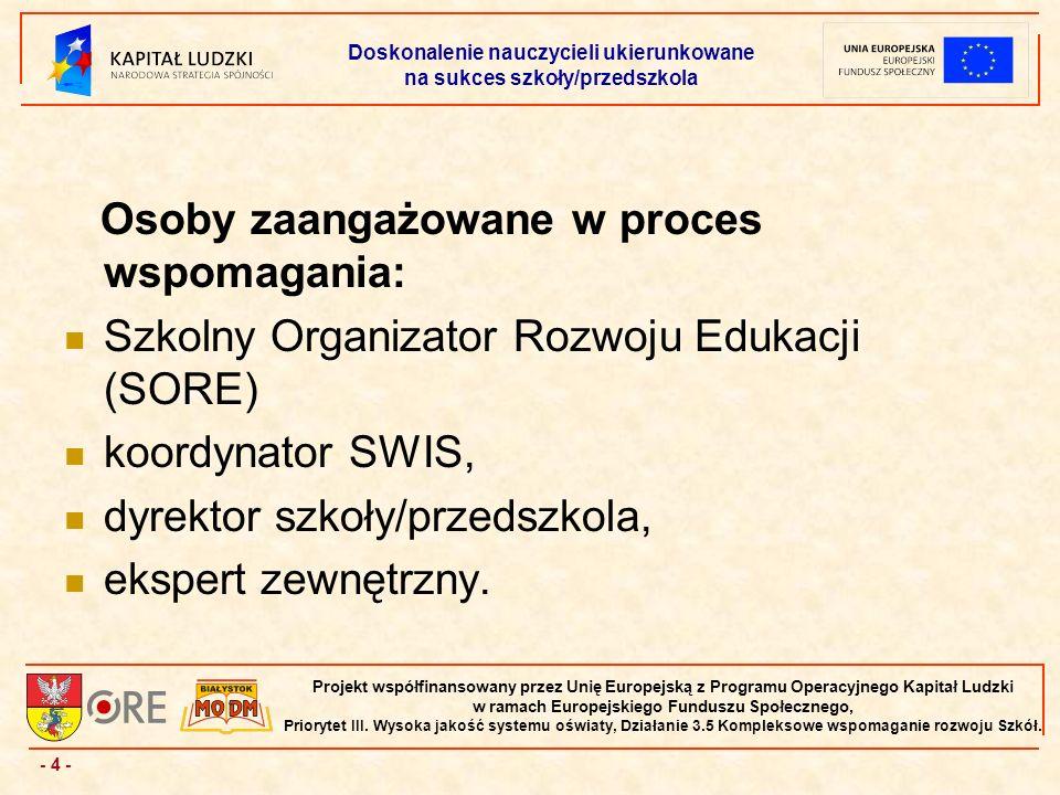 - 4 - Projekt współfinansowany przez Unię Europejską z Programu Operacyjnego Kapitał Ludzki w ramach Europejskiego Funduszu Społecznego, Priorytet III.