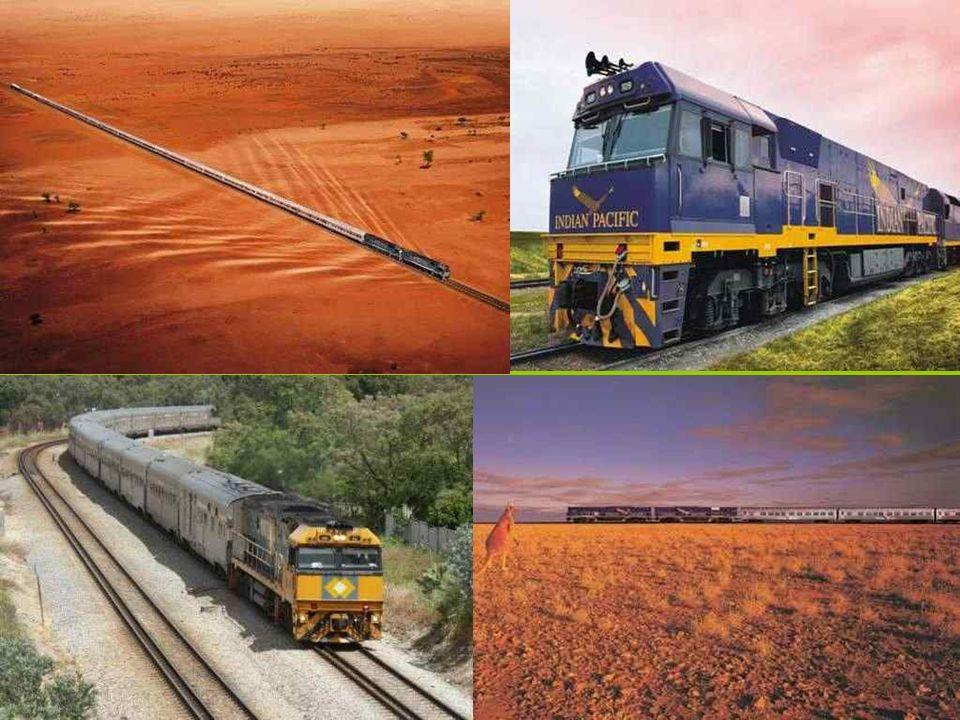 Ta słynna linia kolejowa przecina całą Australią, łącząc położone nad Oceanem Indyjskim Perth z nadpacyficznym Sydney.