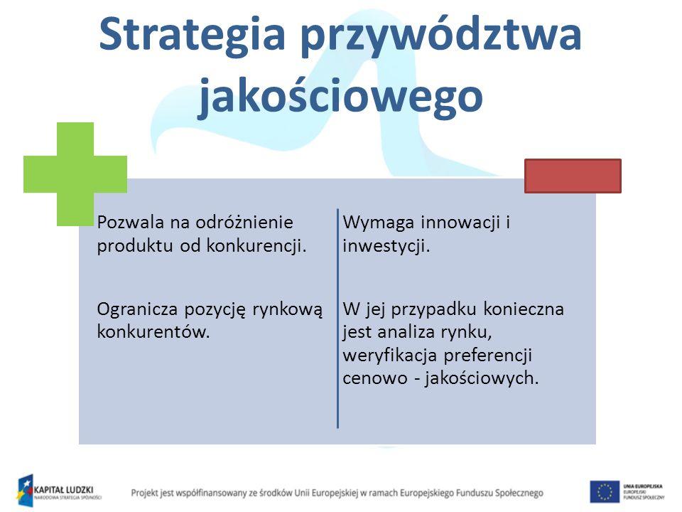 Pozycjonowanie na rynku Jest to działanie związane z kształtowaniem oferty i wizerunku przedsiębiorstwa, prowadzące do zajęcia wyraźnego, znaczącego miejsca w pamięci odbiorców docelowych.