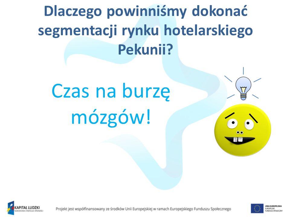 Dlaczego powinniśmy dokonać segmentacji rynku hotelarskiego Pekunii? Czas na burzę mózgów!