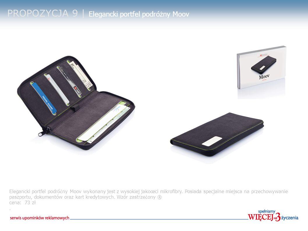 PROPOZYCJA 9 | Elegancki portfel podróżny Moov Elegancki portfel podró¿ny Moov wykonany jest z wysokiej jakoœci mikrofibry.