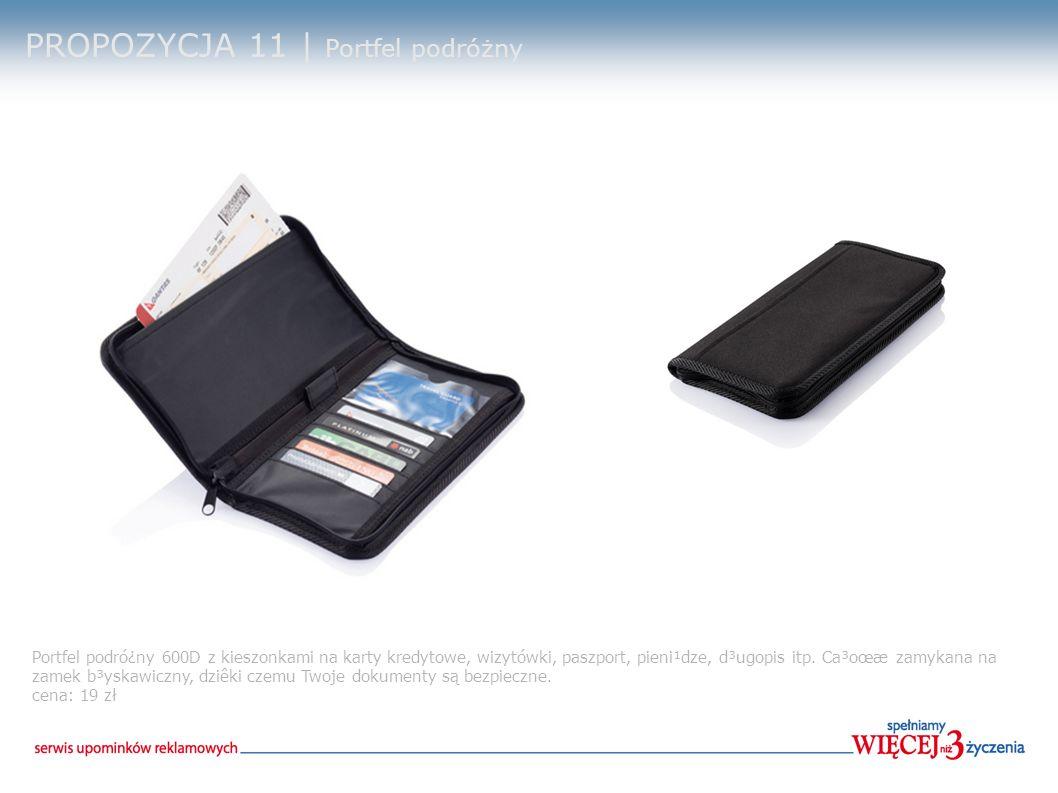 PROPOZYCJA 11 | Portfel podróżny Portfel podró¿ny 600D z kieszonkami na karty kredytowe, wizytówki, paszport, pieni¹dze, d³ugopis itp.