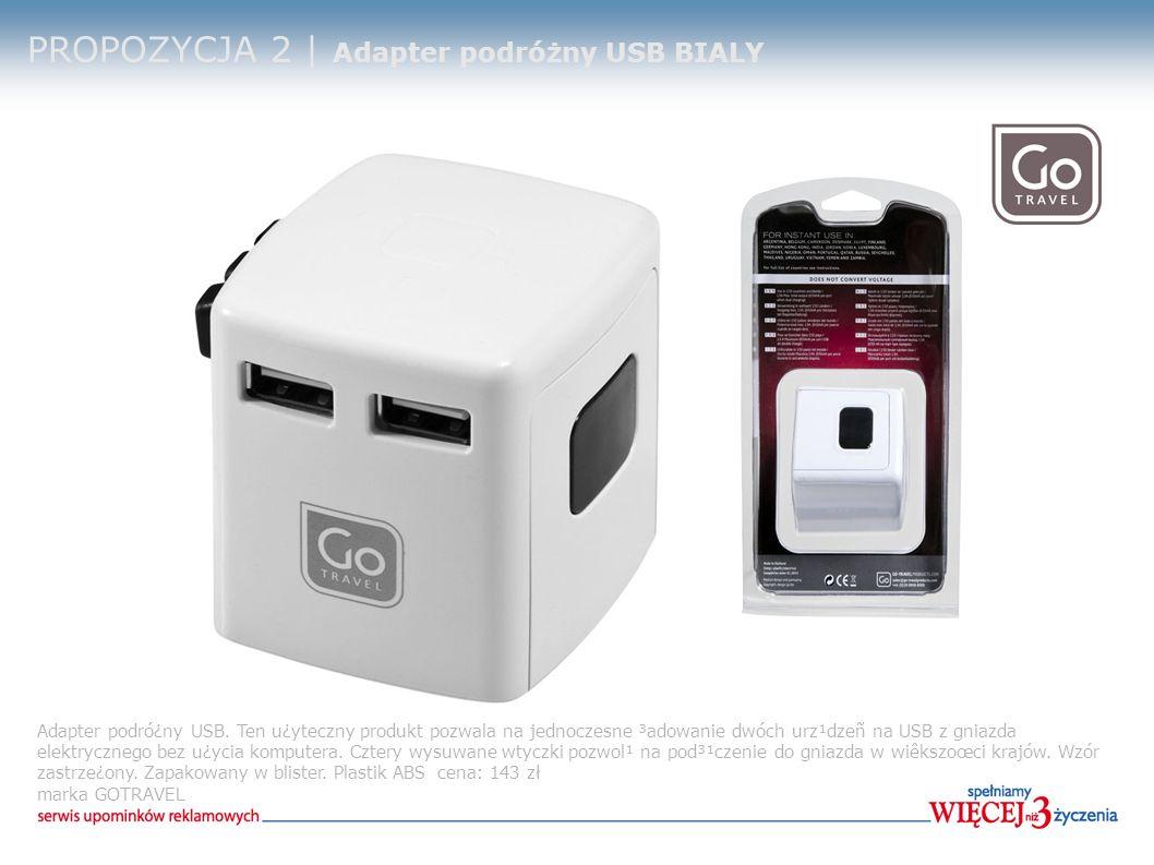PROPOZYCJA 2 | Adapter podróżny USB BIALY Adapter podró¿ny USB.