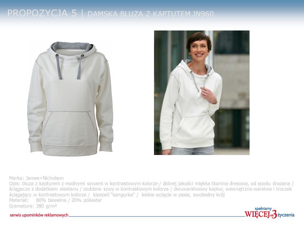 PROPOZYCJA 5 | DAMSKA BLUZA Z KAPTUTEM JN960 Marka: James+Nicholson Opis: bluza z kapturem z modnymi szwami w kontrastowym kolorze / dobrej jakości mi