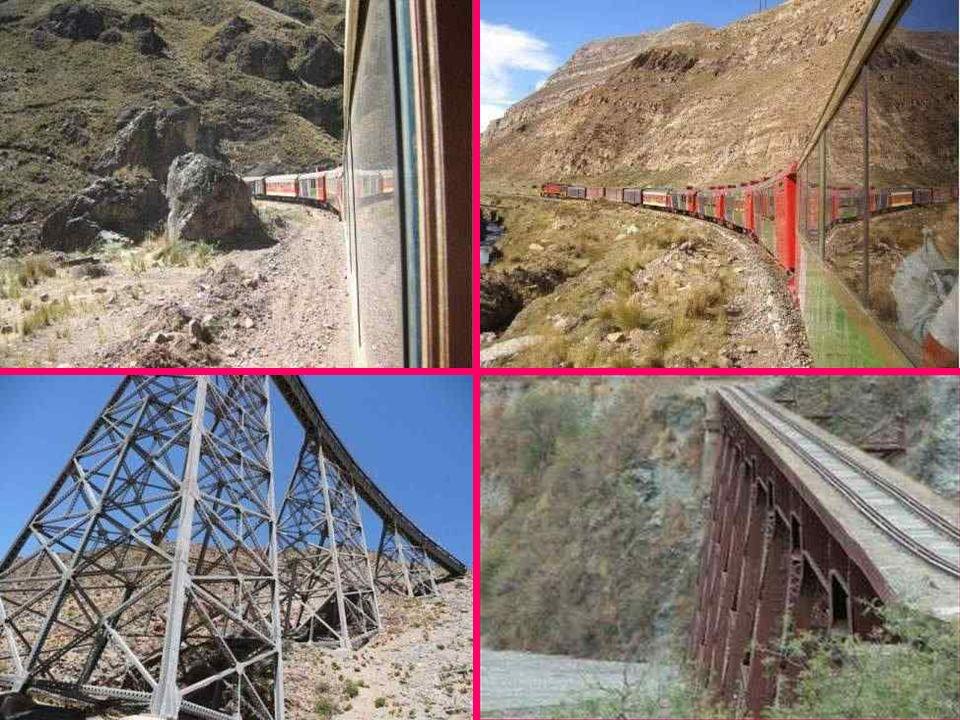 Kolej Transandyjska Prowadząca z Limy do Huancayo w Peru, linia kolejowa, była do niedawna najwyżej położoną koleją na świecie - w najwyższym miejscu