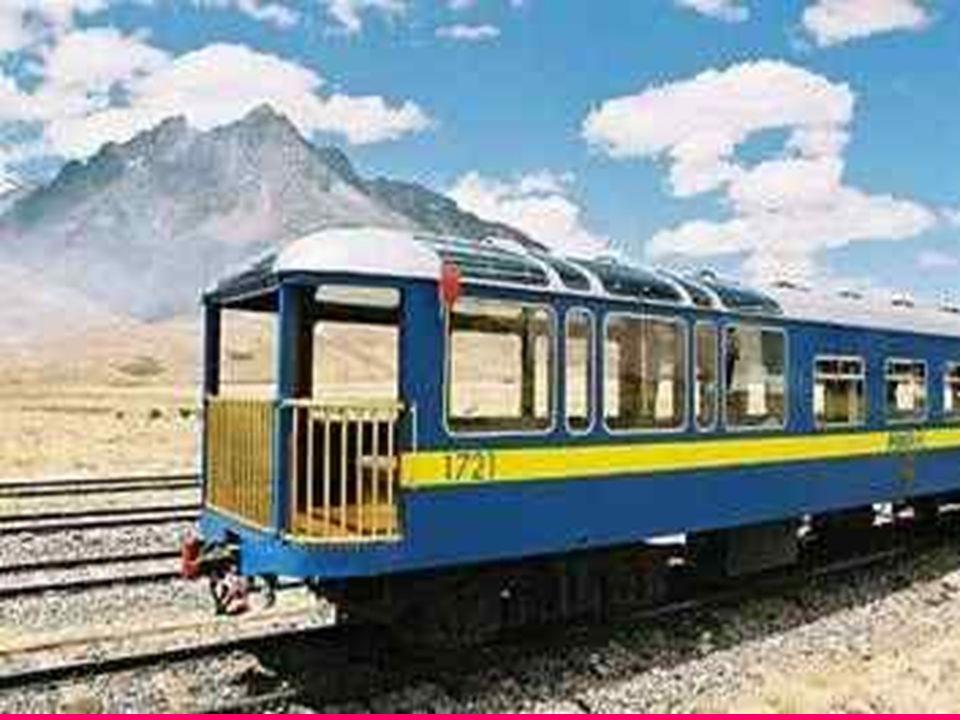 Kolej Transandyjska Prowadząca z Limy do Huancayo w Peru, linia kolejowa, była do niedawna najwyżej położoną koleją na świecie - w najwyższym miejscu osiąga ona 4769 m n.p.m.