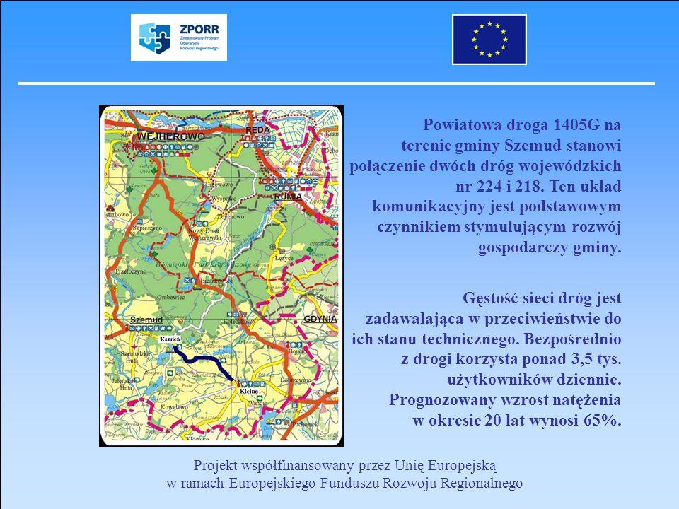 Powiatowa droga 1405G na terenie gminy Szemud stanowi połączenie dwóch dróg wojewódzkich nr 224 i 218. Ten układ komunikacyjny jest podstawowym czynni