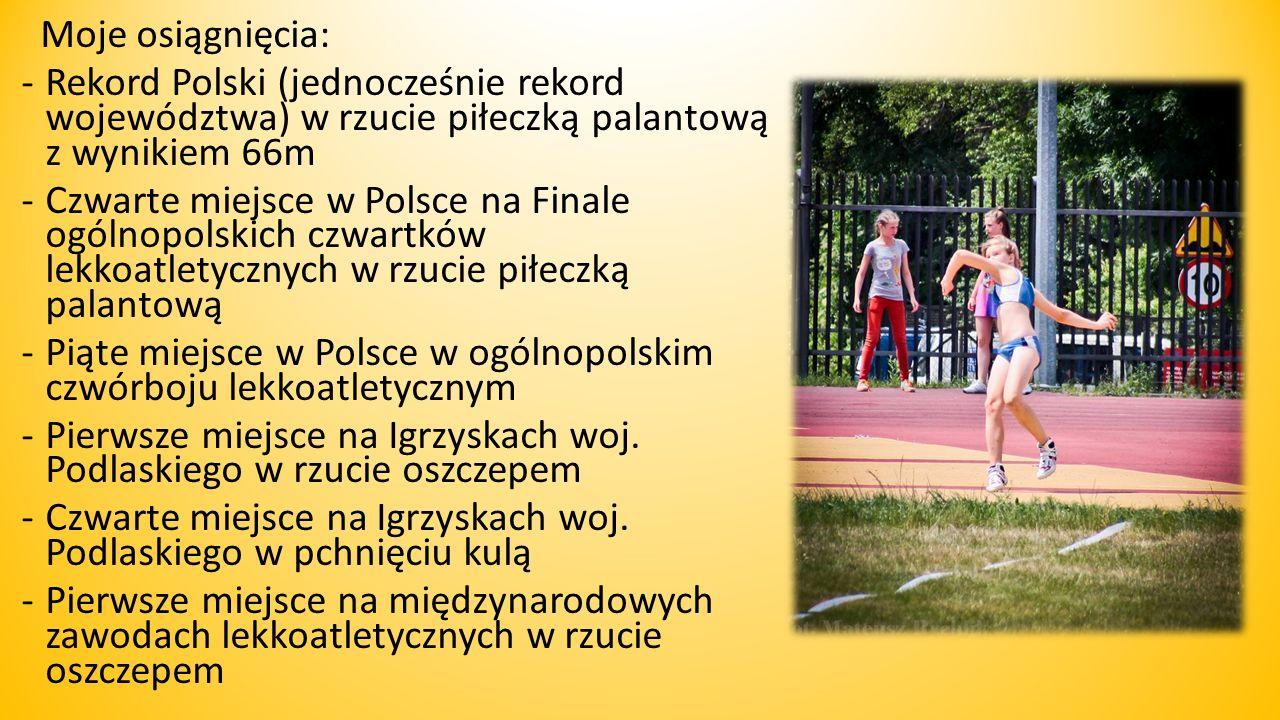 Witam Nazywam si ę Angelika i mam 13 lat Od trzech lat reprezentuje lekkoatletyczny klub sportowy sprinter Siemiatycze