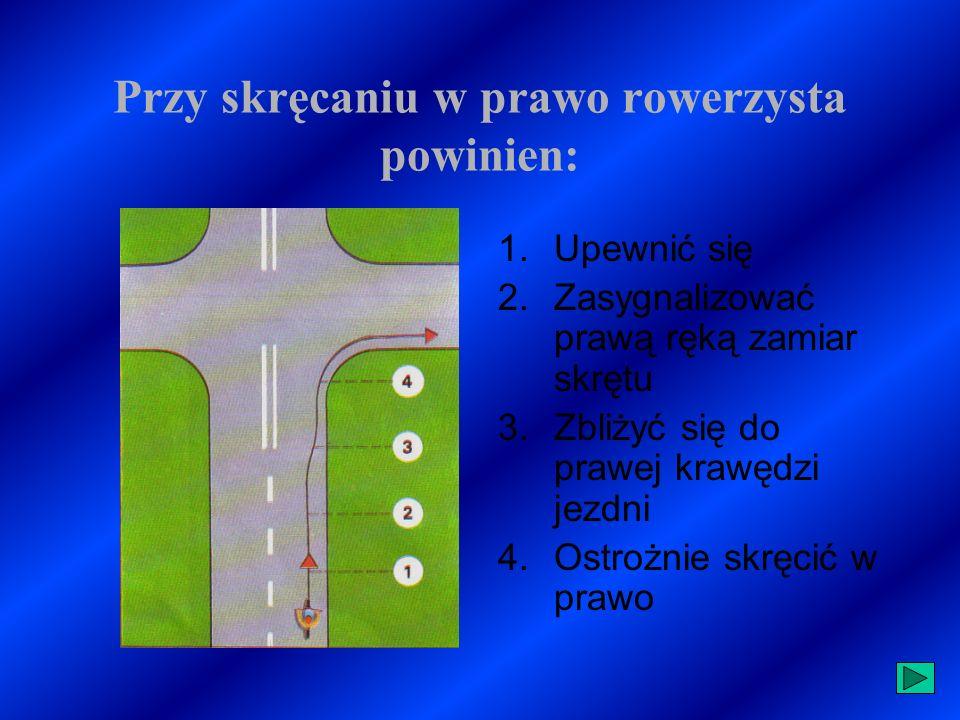 Zmiana pasa ruchu Zmieniając pas ruchu, należy zachować szczególną ostrożność oraz upewnić się, czy nie spowoduje to zajechania drogi innym uczestnikom ruchu.