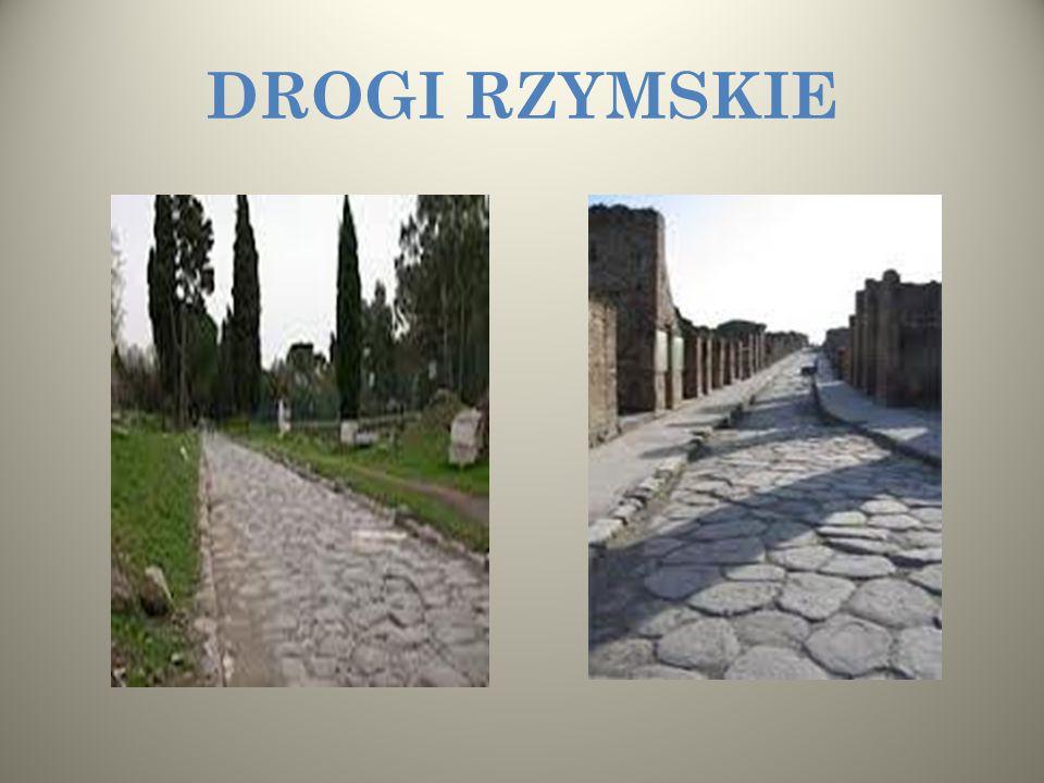 A teraz zapraszamy Was na wycieczkę drogami rzymskimi, które łączyły ziemie rozległego państwa. Budowę dróg Rzymianie opanowali do perfekcji. Kopali g