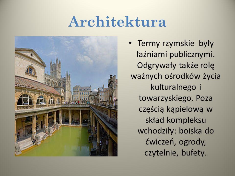 Podobnie jak literatura i filozofia także architektura rzymska rozwijała sie pod wpływem kultury greckiej. Rzymianie dodali do wzorców etruskich i gre