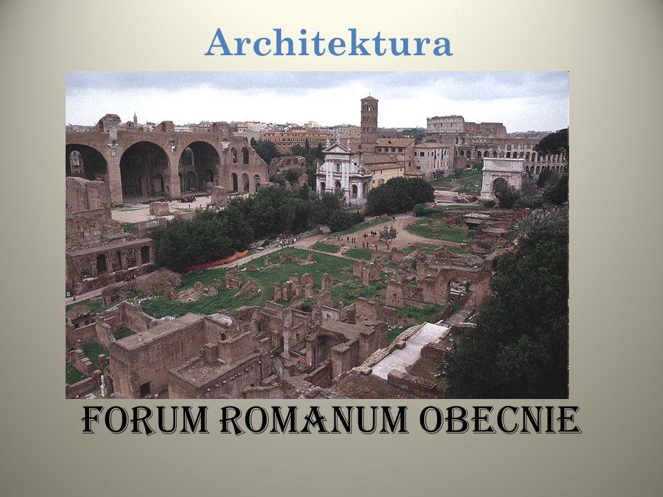 Forum Romanum Rzymianie na terenie ogromnego imperium budowali miasta i miasteczka według podobnego, regularnego planu, pośrodku którego było forum cz