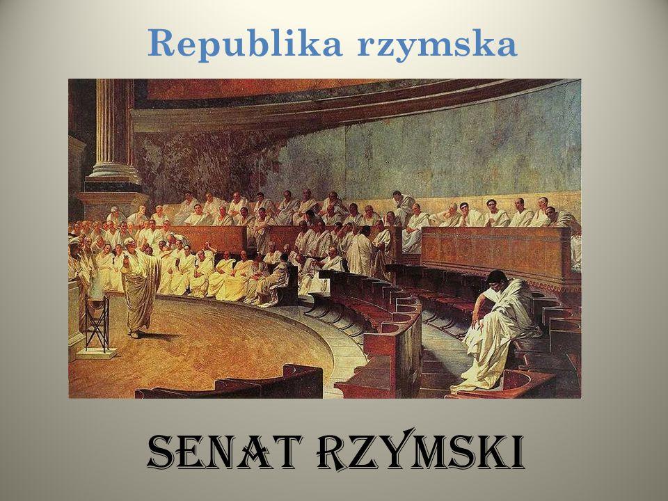 Republika rzymska Senat rzymski