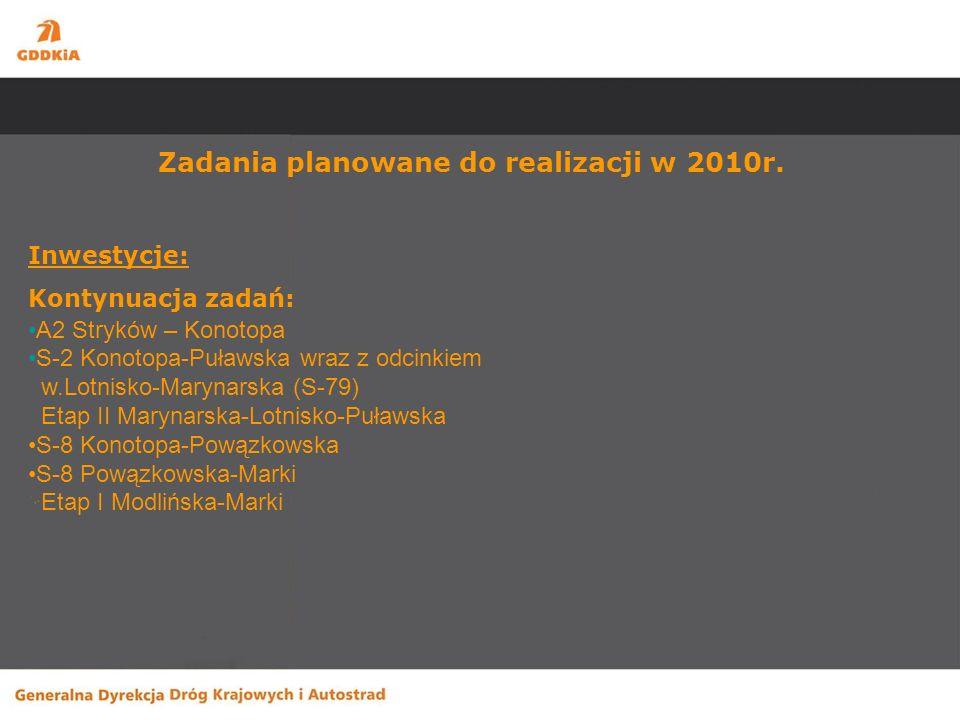 Zadania planowane do realizacji w 2010r.