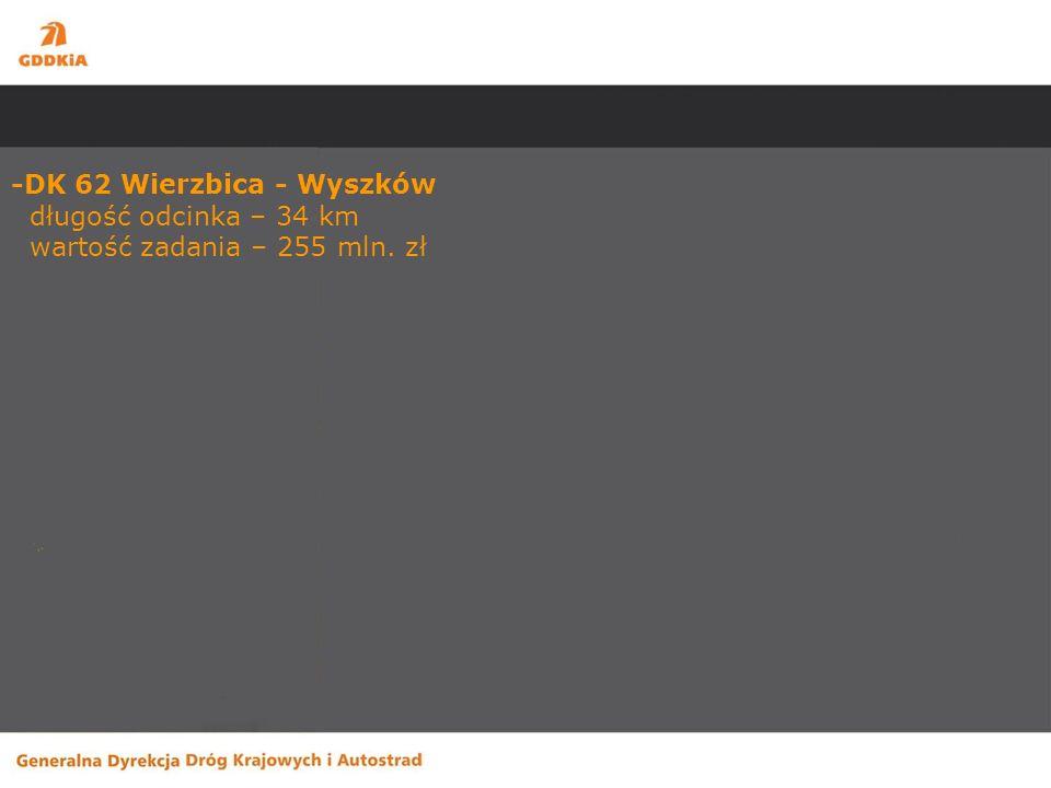 Odnowy -DK 7 Warszawa - Magdalenka długość odcinka – 7,7 km wartość zadania – 177,1 mln.