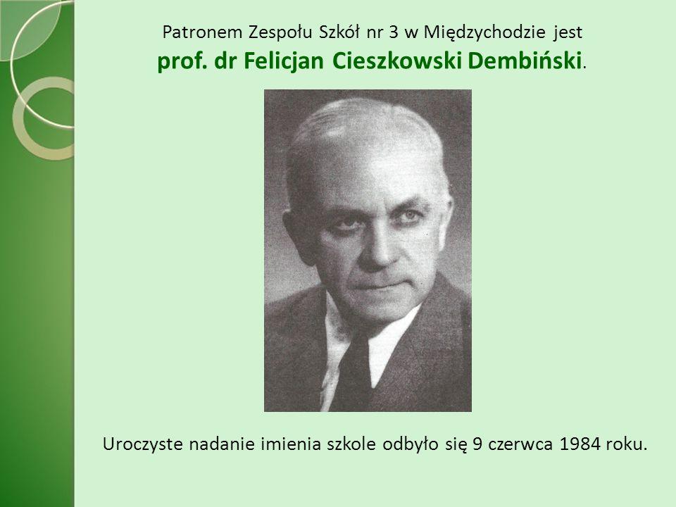 Patronem Zespołu Szkół nr 3 w Międzychodzie jest prof.