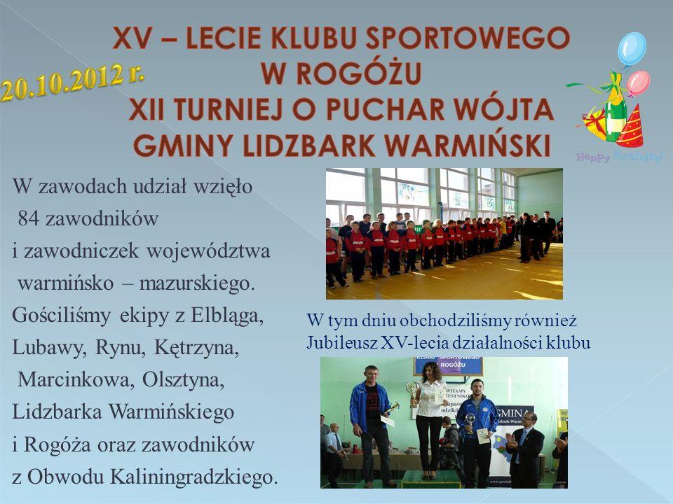 W zawodach udział wzięło 84 zawodników i zawodniczek województwa warmińsko – mazurskiego.