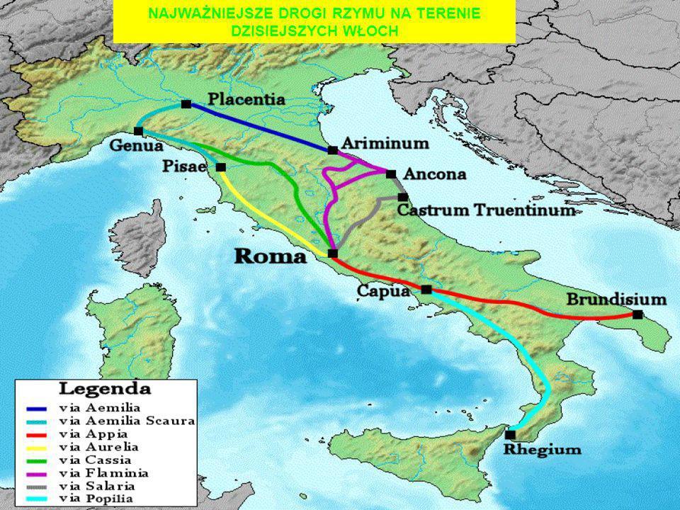 Pierwszą prawdziwie rzymską drogą była rozpoczęta w 312 p.n.e.