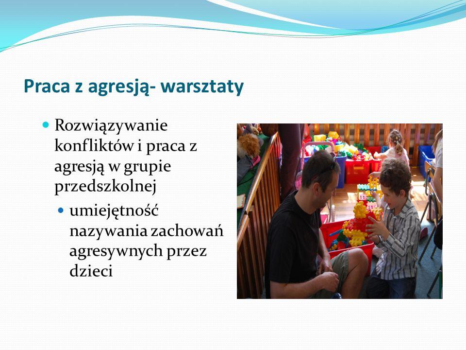 Praca z agresją- warsztaty Rozwiązywanie konfliktów i praca z agresją w grupie przedszkolnej umiejętność nazywania zachowań agresywnych przez dzieci