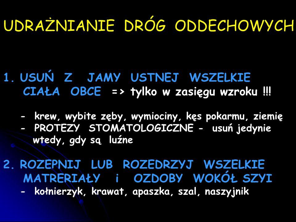 UDRAŻNIANIE DRÓG ODDECHOWYCH 1.
