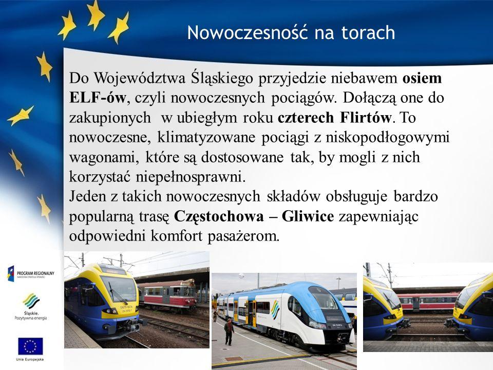 Do Województwa Śląskiego przyjedzie niebawem osiem ELF-ów, czyli nowoczesnych pociągów.
