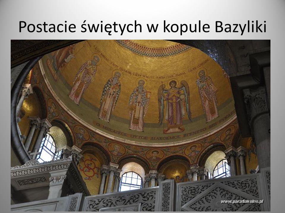 Postacie świętych w kopule Bazyliki