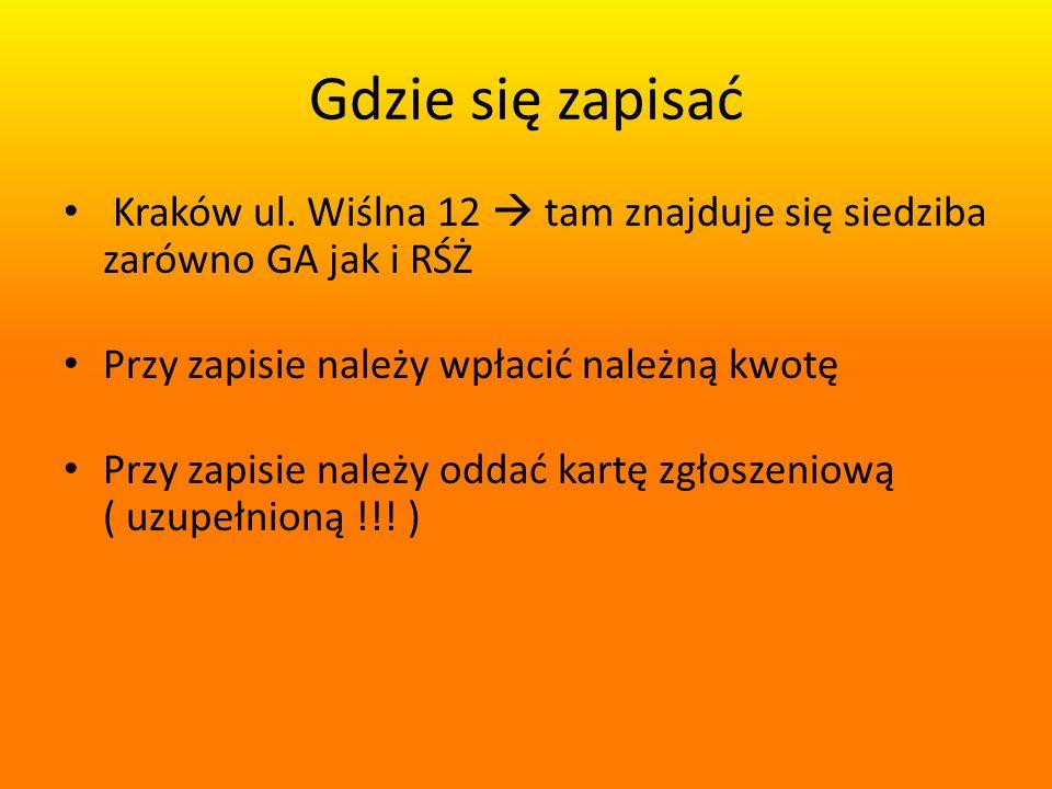 Gdzie się zapisać Kraków ul.