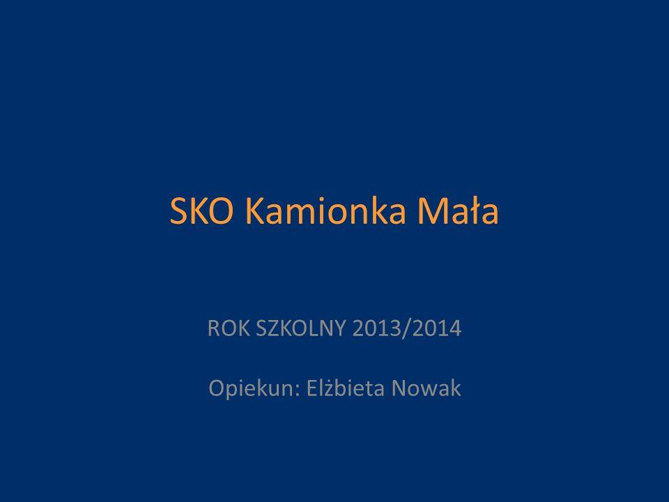 SKO Kamionka Mała ROK SZKOLNY 2013/2014 Opiekun: Elżbieta Nowak