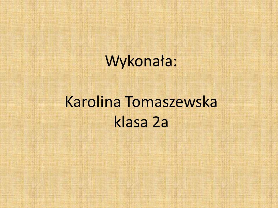 Wykonała: Karolina Tomaszewska klasa 2a