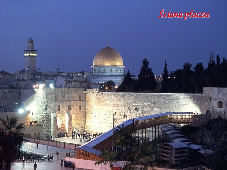Meczet AL.-Aksa Meczet Na Skale Ściana płaczu Wzgórze świątynne