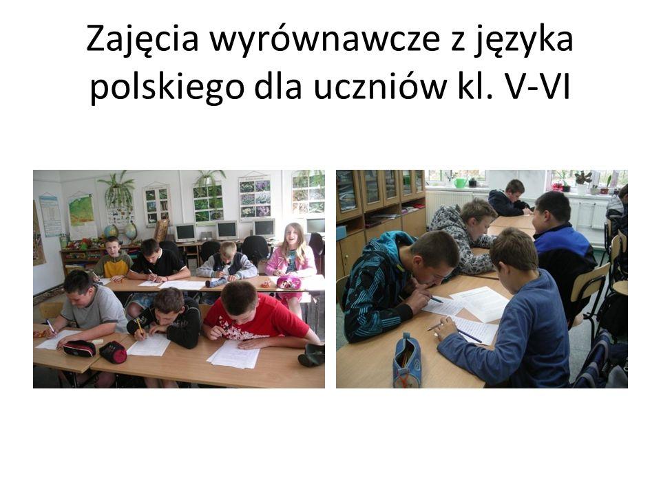 Zajęcia wyrównawcze z języka polskiego dla uczniów kl. V-VI