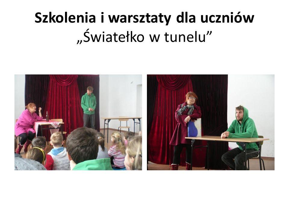 Szkolenia i warsztaty dla uczniów Światełko w tunelu