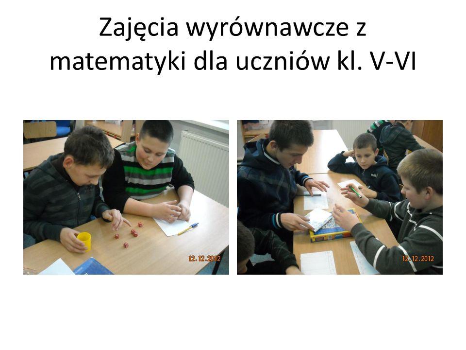 Zajęcia wyrównawcze z matematyki dla uczniów kl.