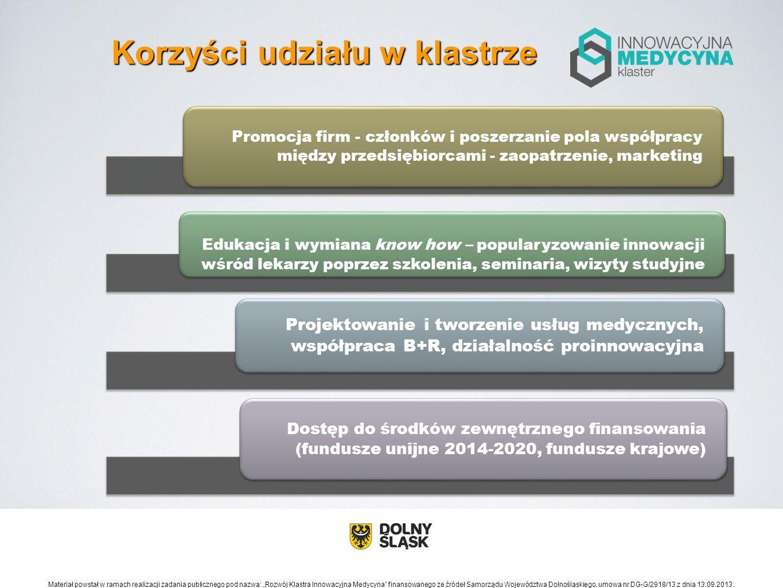 Wspólne projekty - zorientowane na tworzenie rozwiązań medycznych i promocję klastra (platforma 3 funkcjonalności).