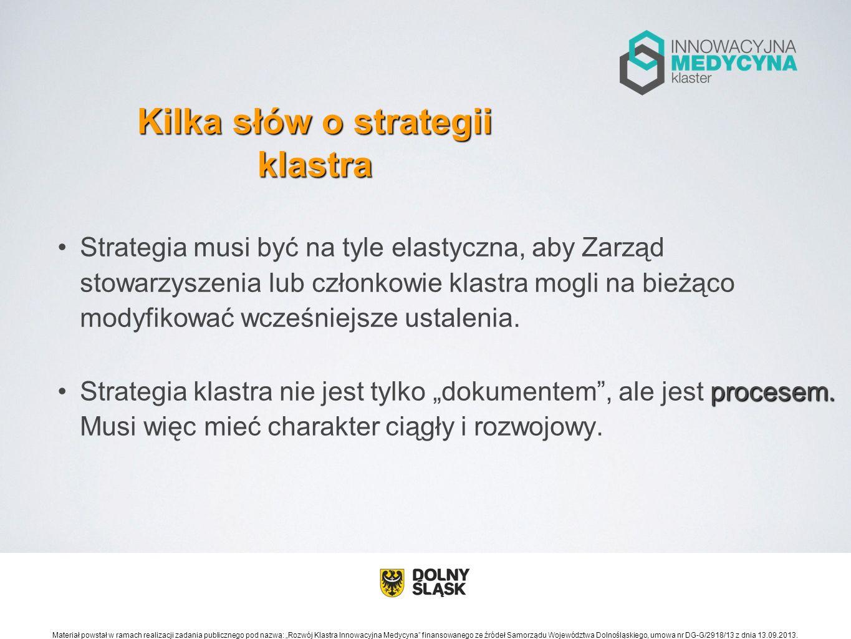 Klastry posiadające sformalizowaną strategię stanowią prawie 69% wszystkich klastrów biorących udział w badaniu PARP (Benchmarking klastrów w Polsce – edycja 2012, próba 35 klastrów).