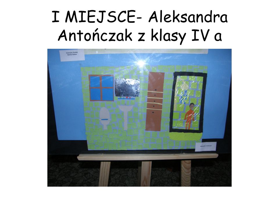 I MIEJSCE- Aleksandra Antończak z klasy IV a