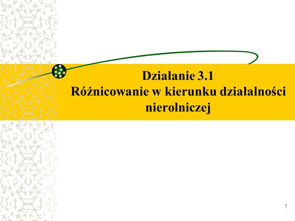 1 Działanie 3.1 Różnicowanie w kierunku działalności nierolniczej