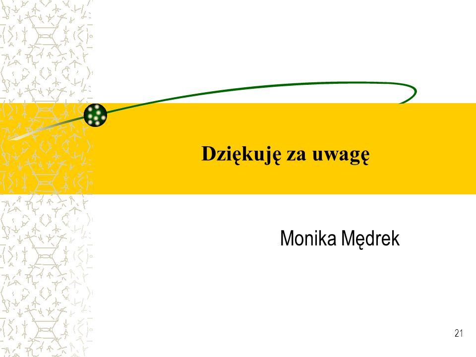 21 Dziękuję za uwagę Monika Mędrek