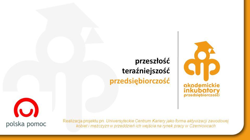 przeszłość teraźniejszość przedsiębiorczość Realizacja projektu pn.