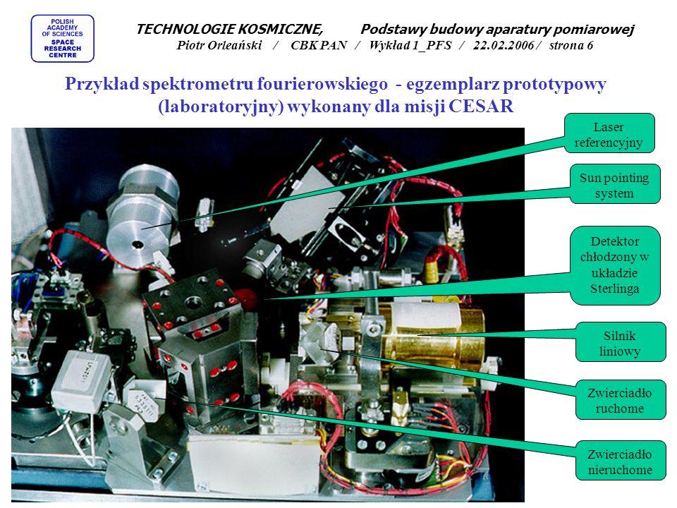Zalety spektrometrów fourierowskich: Wysoka czułość optyczna, Wysoka czułość energetyczna, Pomiar całego spektrum w tym samym momencie, Rozdzielczość ograniczona przede wszystkim przesuwem zwierciadła, Duży zakres spektralny ograniczony przede wszystkim możliwościami zastosowanego detektora, Możliwośc bezpośredniej obróbki matematycznej na sygnale z uwzględnieniem charakterystyki przyrządu.