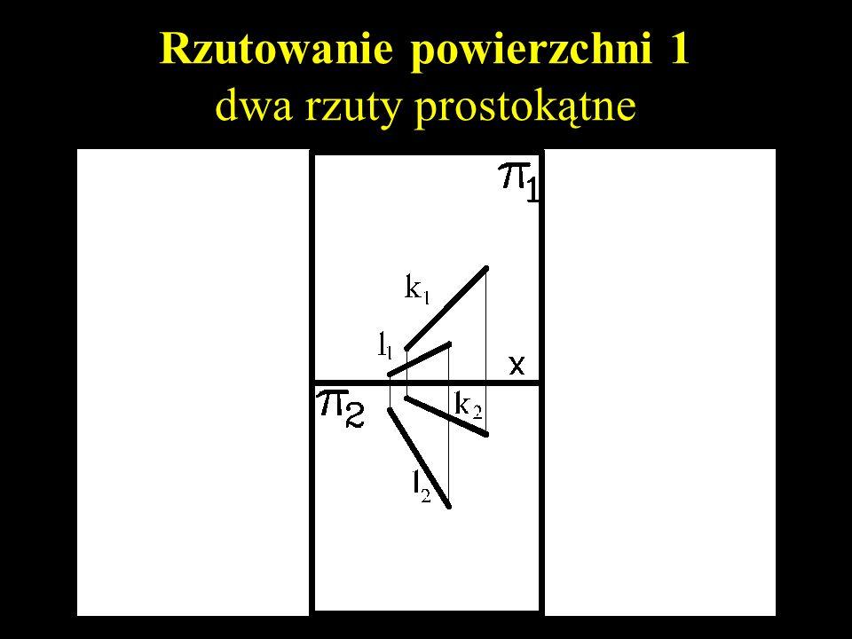 Rzutowanie powierzchni 1 dwa rzuty prostokątne