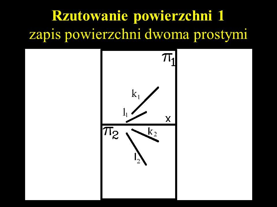Rzutowanie powierzchni 1 zapis powierzchni dwoma prostymi
