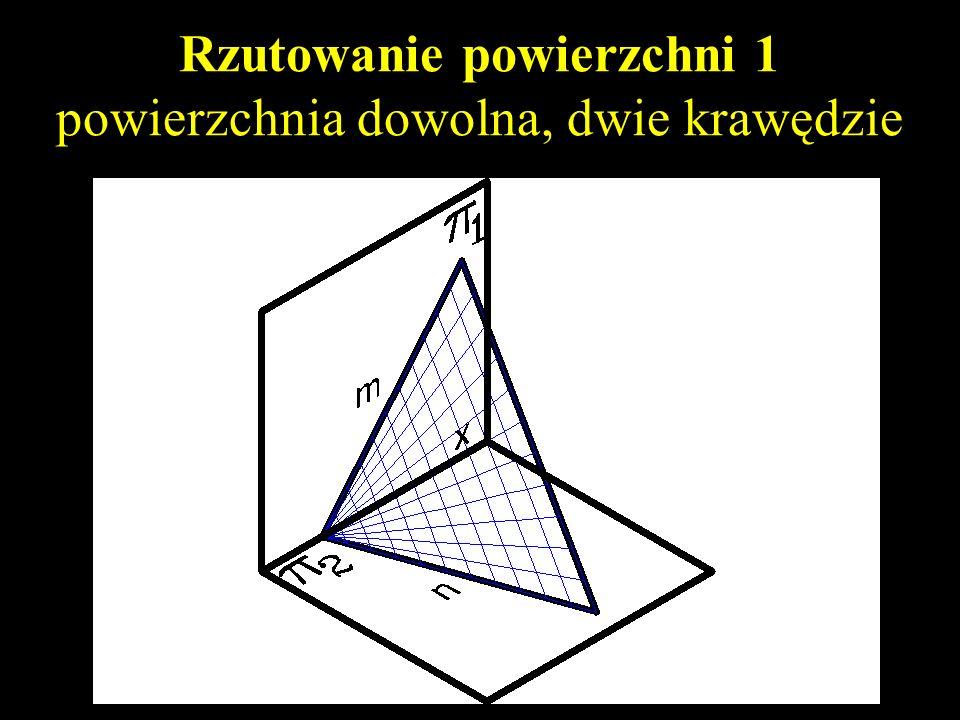 Rzutowanie powierzchni 1 powierzchnia dowolna, dwie krawędzie