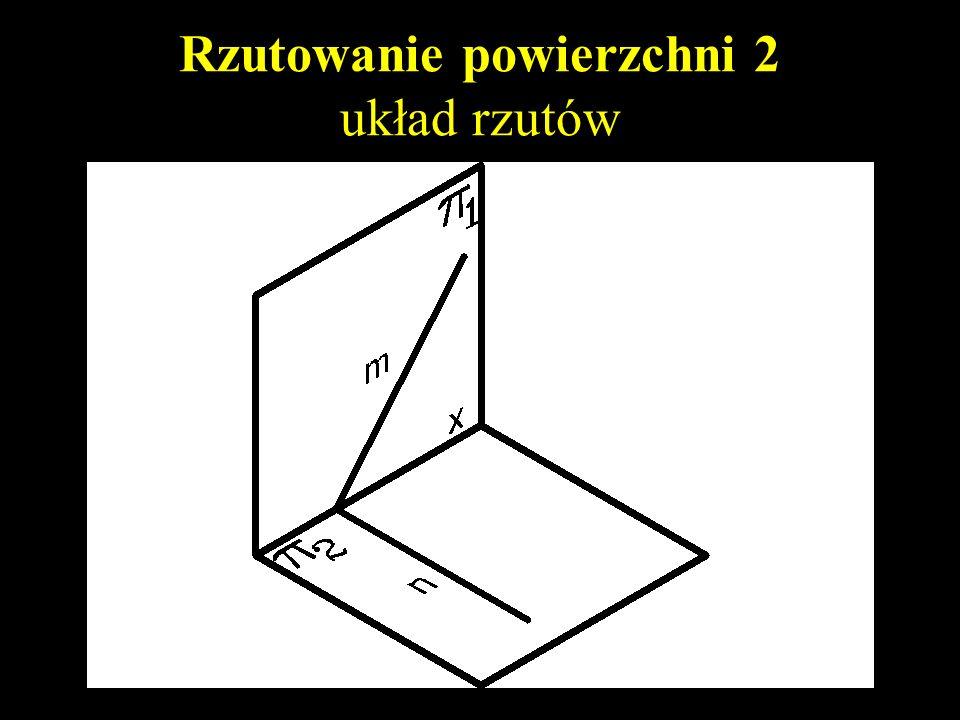 Rzutowanie powierzchni 2 układ rzutów